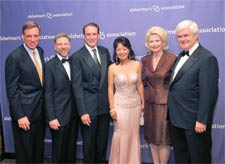 Senator Mark Werner, Alzheimer Association CEO Harry Johns, Jeffrey Cummings, Dr. Kate Cummings (Zhong), Mrs. Gingrich, New Gingrich